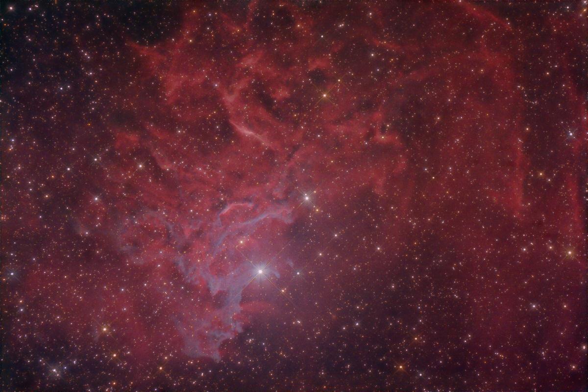 Part of IC 405 - Flaming Star Nebula